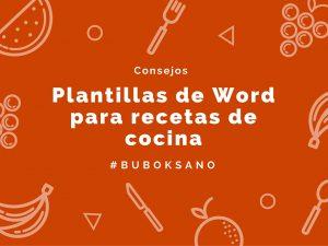 plantillas en word para recetas de cocina