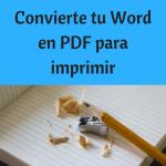 De Word a PDF: Prepara tu libro para imprimir