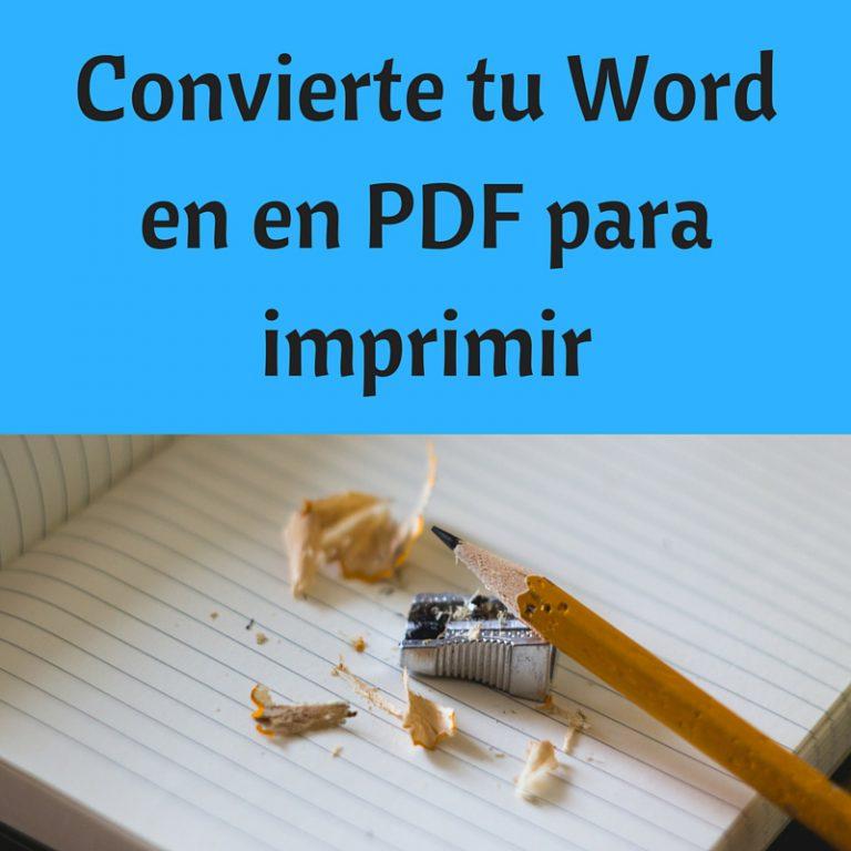 Cómo preparar mi libro en papel: de word a PDF