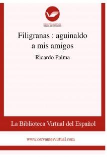 Filigranas : aguinaldo a mis amigos