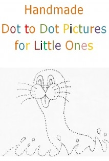 Handmade dot to dot pictures for little ones