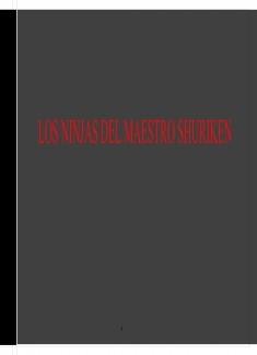 LAS HISTORIAS DEL MAESTRO SHURIKEN