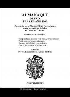 Almanaque nuevo para 1562 de Nostradamus