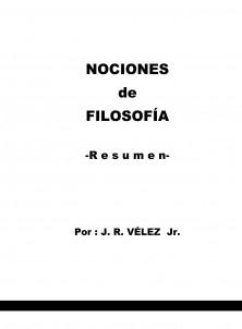NOCIONES de FILOSOFÍA -Resumen-