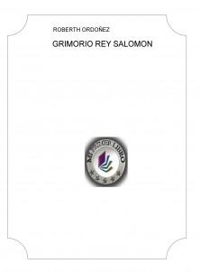 GRIMORIO REY SALOMON
