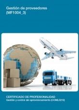 Libro MF1004_3 - Gestión de proveedores, autor Editorial Elearning