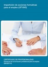 Libro UF1645 - Impartición de acciones formativas para el empleo, autor Editorial Elearning