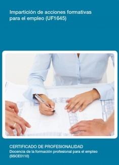 UF1645 - Impartición de acciones formativas para el empleo