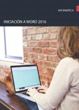 Libro Iniciación a word 2016, autor Editorial Elearning