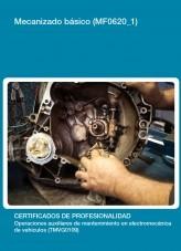 Libro MF0620_1 - Mecanizado básico, autor Editorial Elearning