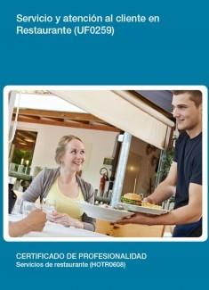 UF0259 - Servicio y atención al cliente en restaurante