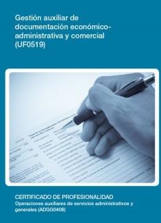 UF0519 - Gestión auxiliar de documentación económico-administrativa y comercial