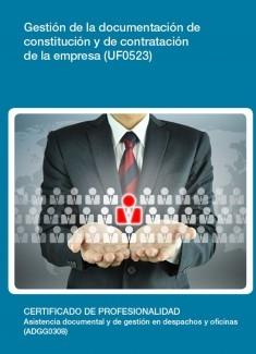 UF0523 - Gestión de la documentación de constitución y de contratación de la empresa