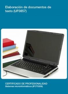 UF0857 - Elaboración de documentos de texto