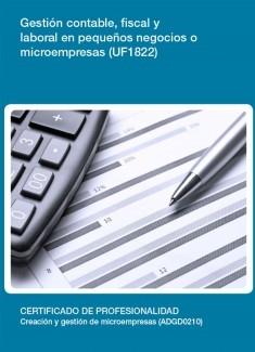 UF1822 - Gestión contable, fiscal y laboral en pequeños negocios o microempresas