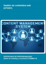 Libro UF2401 - Gestión de contenidos web, autor Editorial Elearning