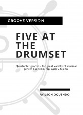 Libro Five at the drumset: Groove version, autor Wilson Oquendo
