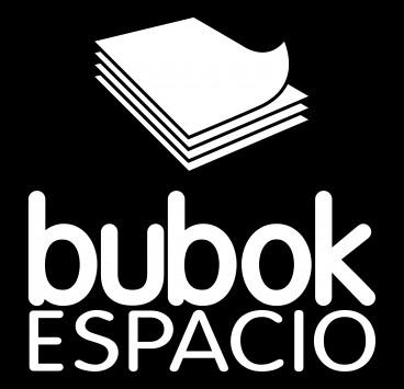 Logo espacio bubok en negativo
